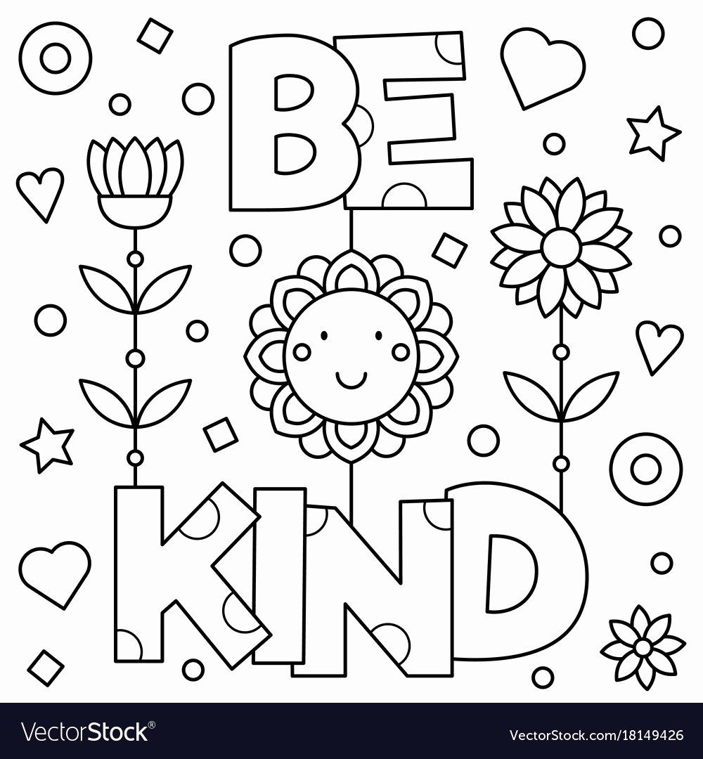 28 Be Kind Coloring Page in 2020 Preschool coloring