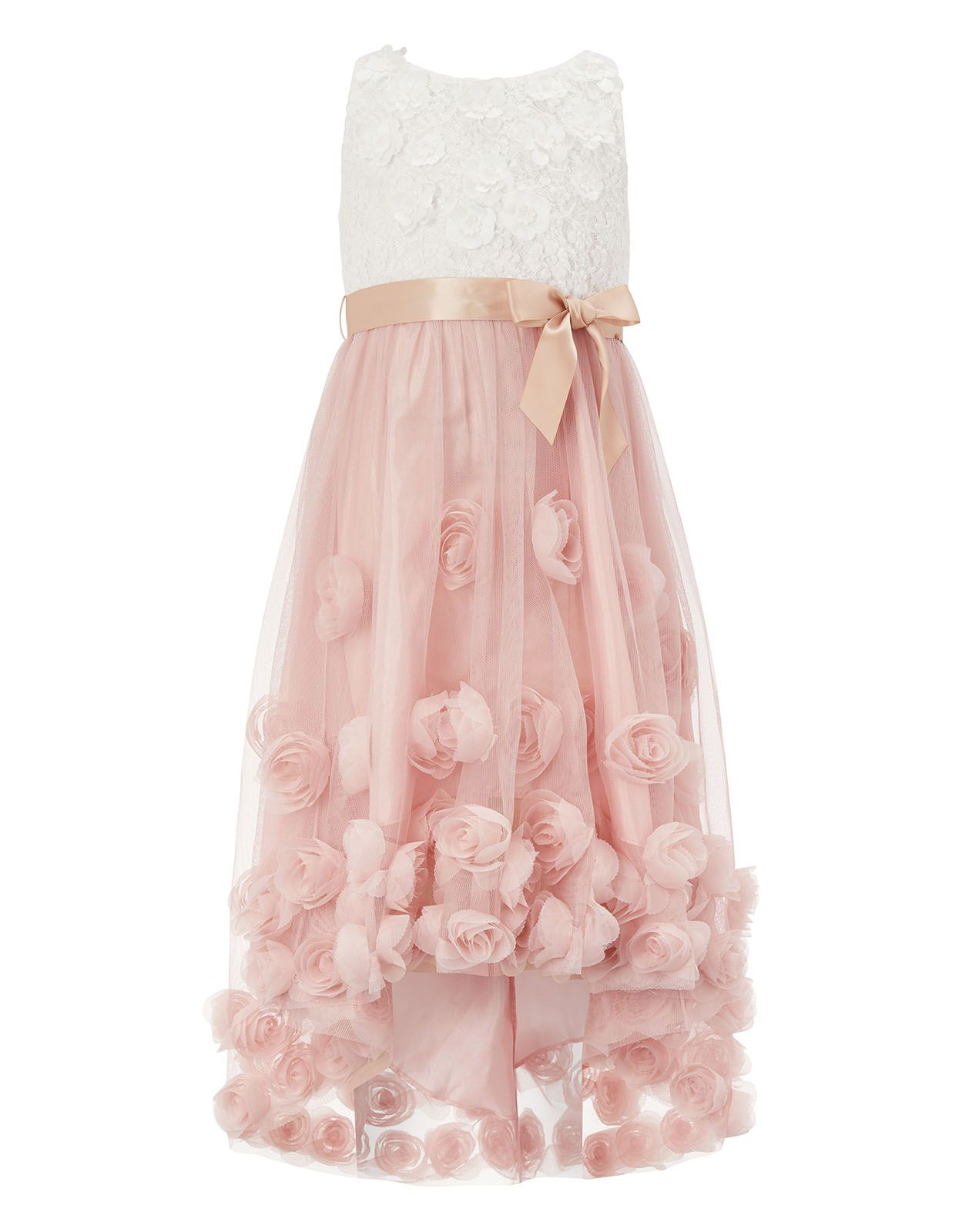 Monsoon | Rosie High Low Dress | Pink | 12-13 Years | research ...
