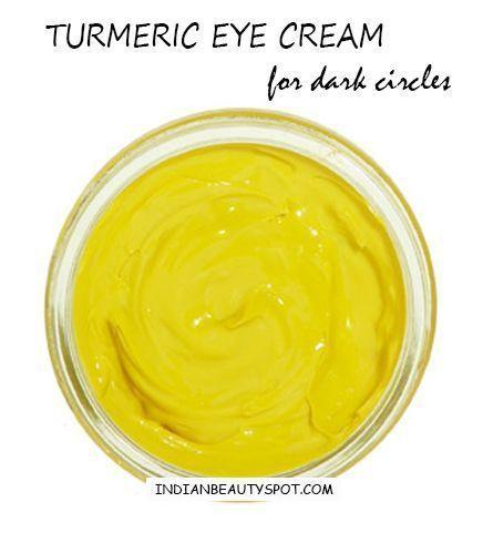 DIY Skin Care Tips : turmeric eye cream for dark circles ...