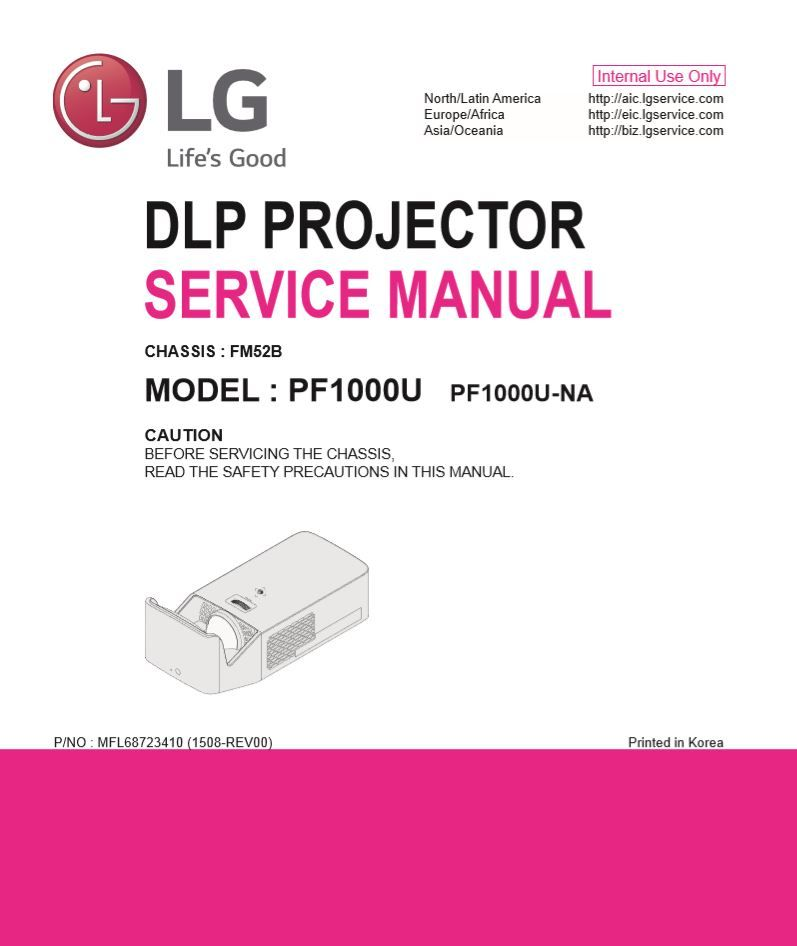 Lg Pf1000u Projector Service Manual And Repair Guide Electronic Circuit Projects Repair Guide Circuit Projects
