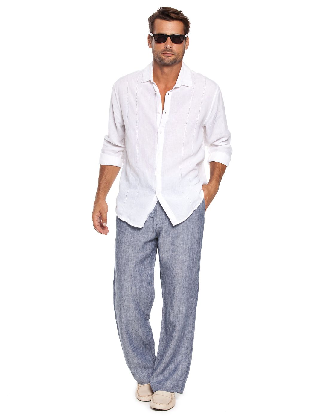 cd7766db66 Men's Linen Beach Pants in Grey | 10th anniversary in Mexico | Mens ...