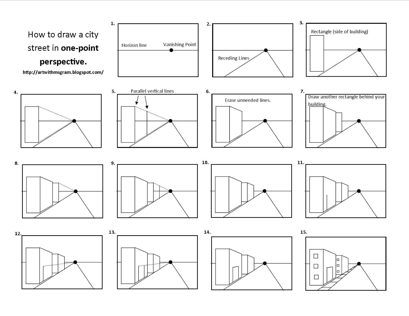 one pointperspectiveworksheets – Step One Worksheet