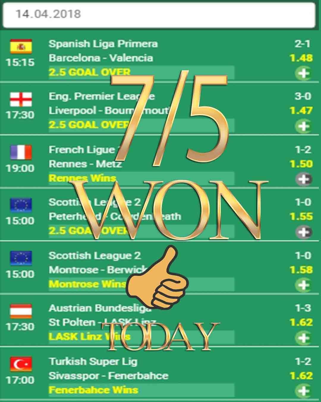 Vip betting tips 7/5 WON sports betting tips, sport