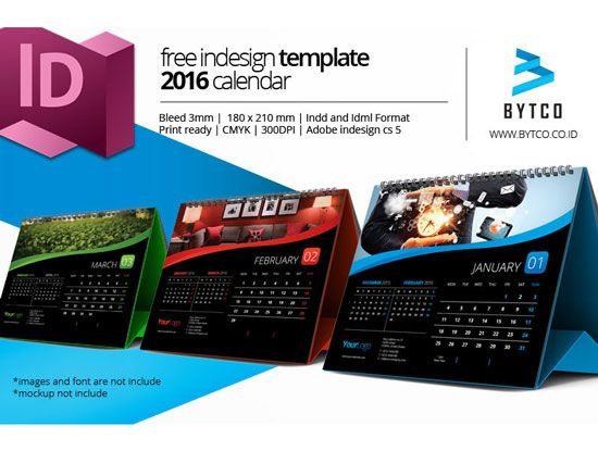 Free  Calendar Design Templates  Free Indesign Templates