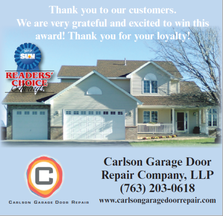 Carlson Garage Door Repair Bloomington Mn We Service Minnetonka Wayzata Plymouth Albertville Rogers St Mich Garage Doors Door Repair Garage Door Repair