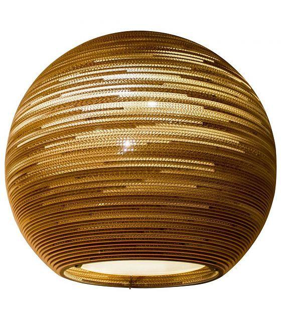 Pendelleuchte Sun 48 Aus Karton Braun O128x48cm Lampen Hange Lampe