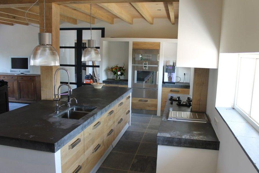 Koak keuken eiken houten keuken met pitt cooking in dik for Koak keuken