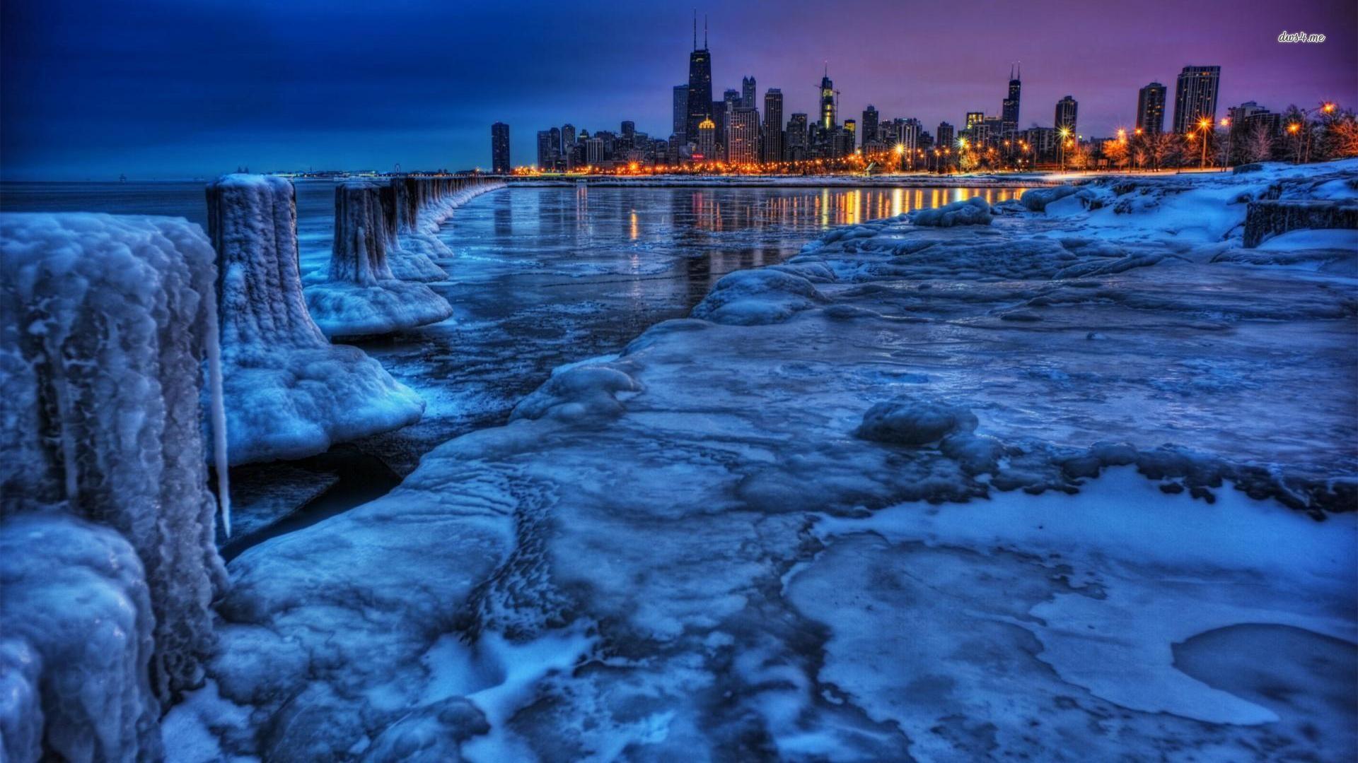 Chicago Skyline HD desktop wallpaper Fullscreen Mobile