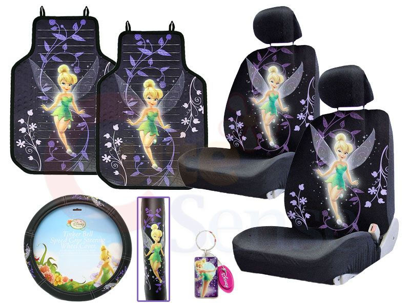 Tremendous Tinkerbell Mystical Tink Car Seat Covers Accessories Set Pabps2019 Chair Design Images Pabps2019Com