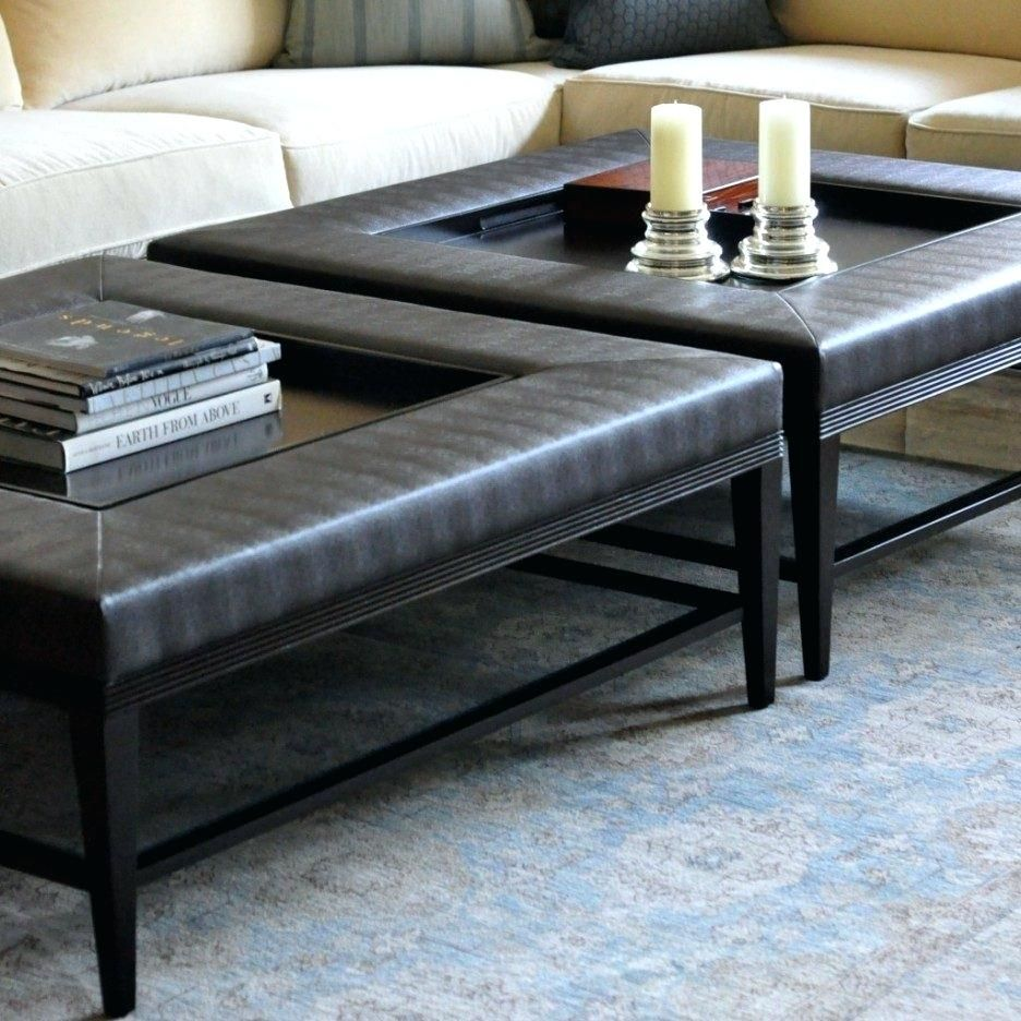 Large Ottoman Coffee Table Uk Extra Square Leather Pouf Leather