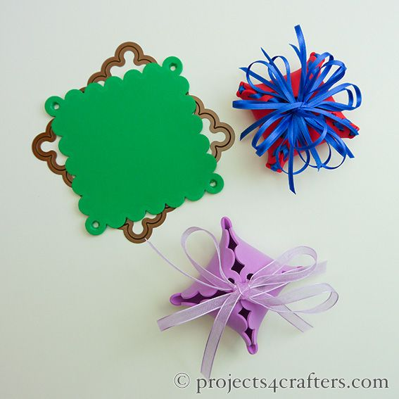 Use One Scalloped Foam Square A Hole Punch And Some Ribbons To