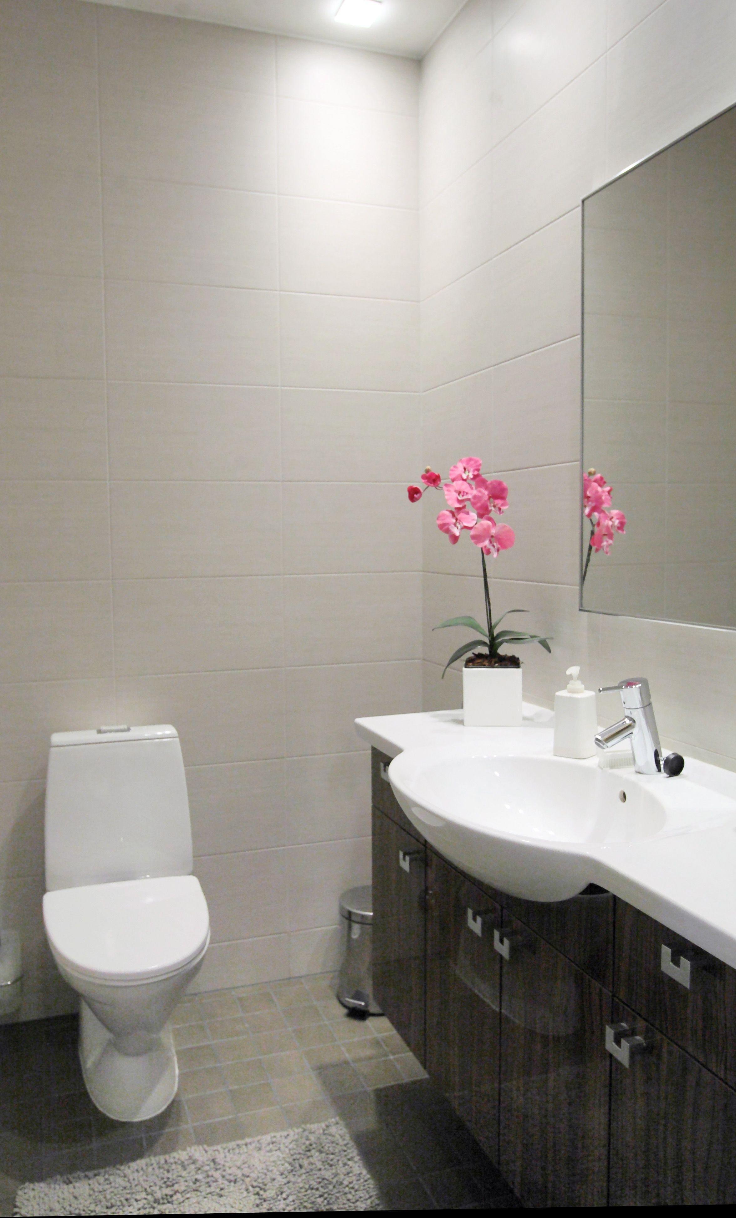 Rauhalliset S Vyt Kylpyhuoneessa #Harmaans Vyt #Vessa #Kylpyhuone #Laatat #Abl