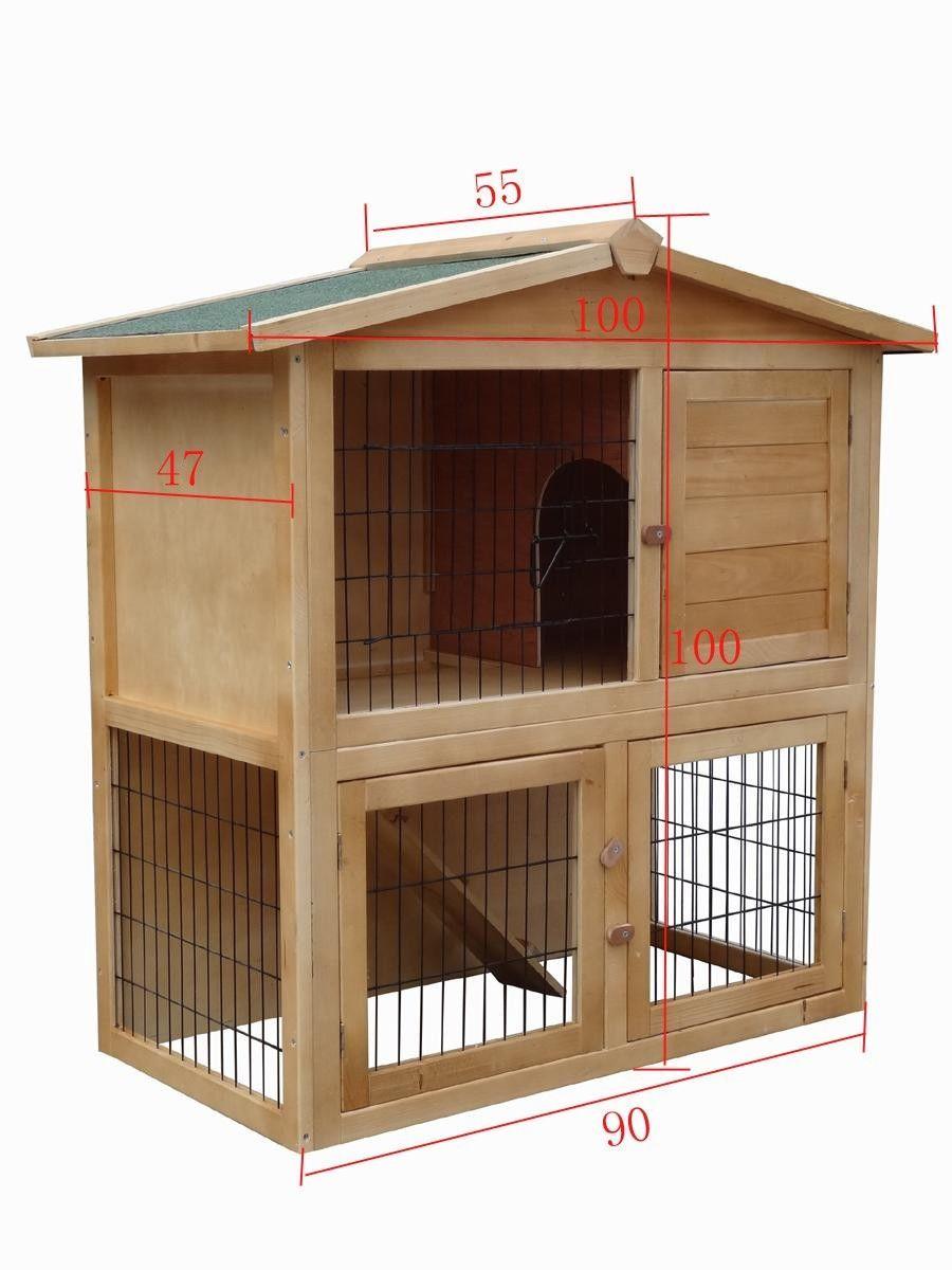 Conejera conejera jaula de conejos jaula para conejo - Casa conejo ...