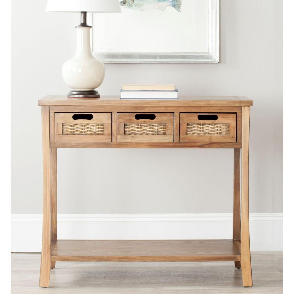 Safavieh Autumn Oak Storage Console Table Amh6510b Console Table Wood Console Table Sofa End Tables