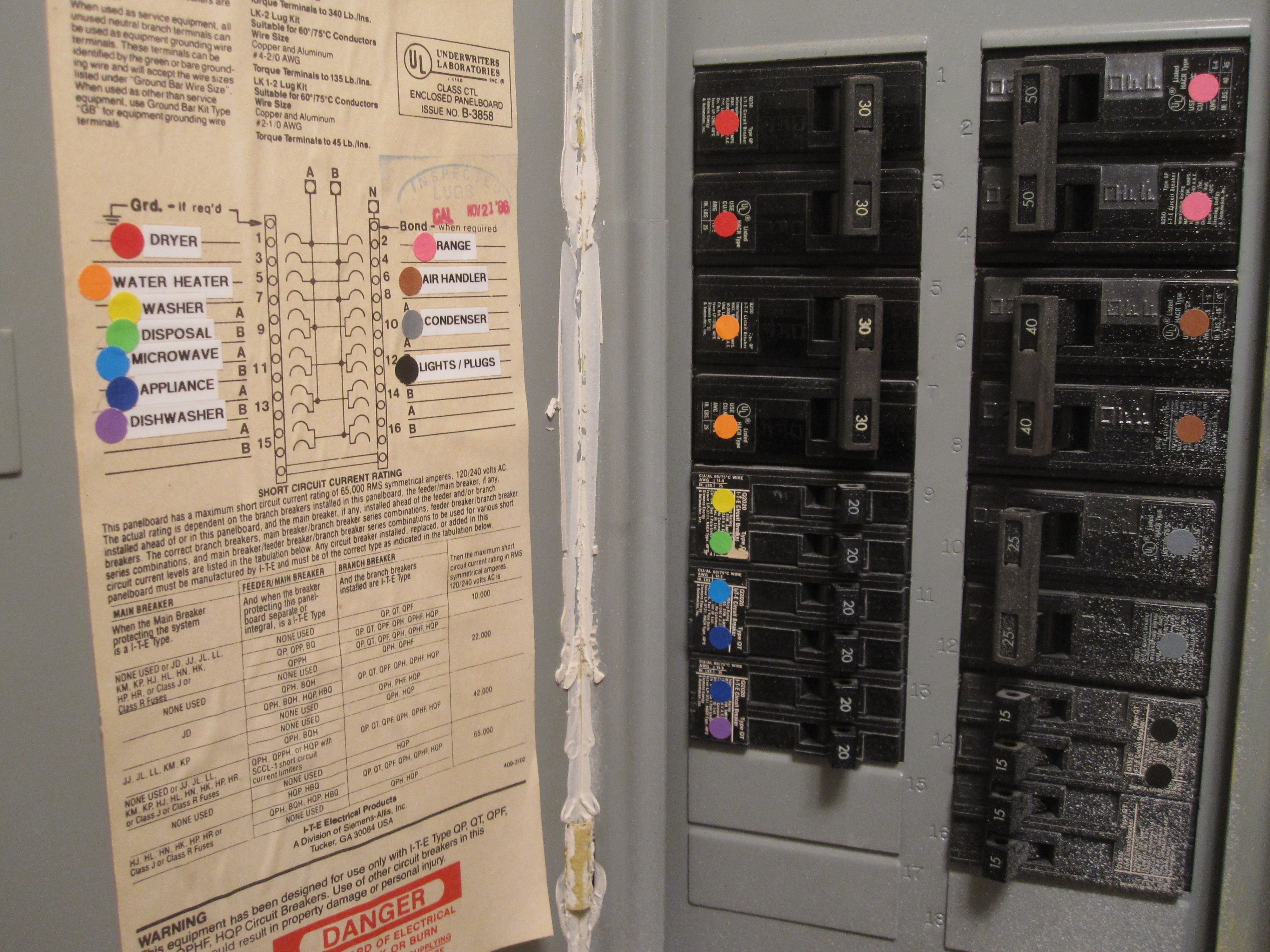 Flipping The Right Switch On Circuit Breaker Is So Obvious Now Identification Labels Casas Bonitas