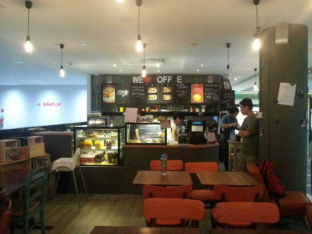 Three Cups Coffee Co At One Raffles Place Mall Cafe Interior Cup Interior