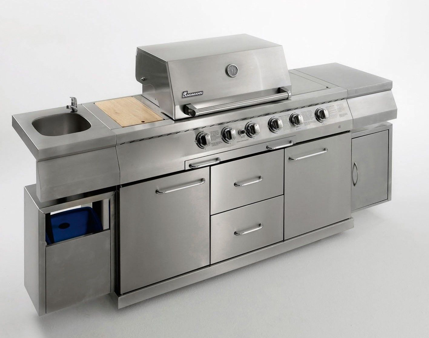 Outdoor Küche Edelstahl Preis : Landmann aussenküche edelstahl stainless steel