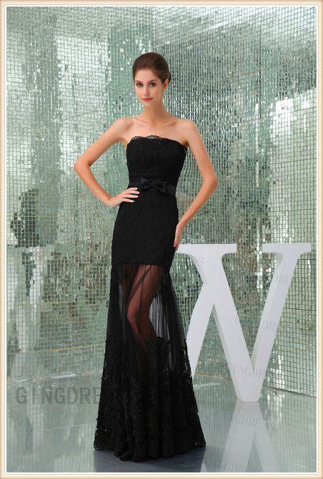 Lace Strapless Bowknot Prom Dress http://www.gindress.co.uk/ribbon-mermaid-lace-strapless-bowknot-prom-dress-p-6967.html