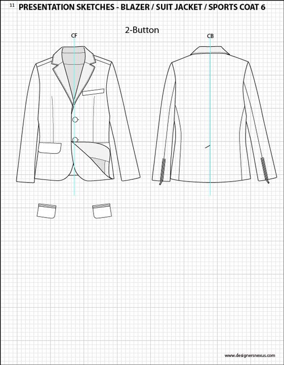 Mens Illustrator Flat Fashion Sketch Templates ...