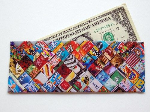 Candy wrapper style recycled magazine wallet how to recycle candy wrapper style recycled magazine wallet how to recycle projects crafts diy solutioingenieria Images