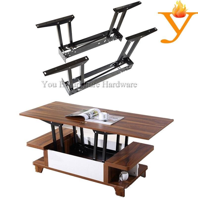 Smart Home Furniture Fittings Extendable Transform Lift Table