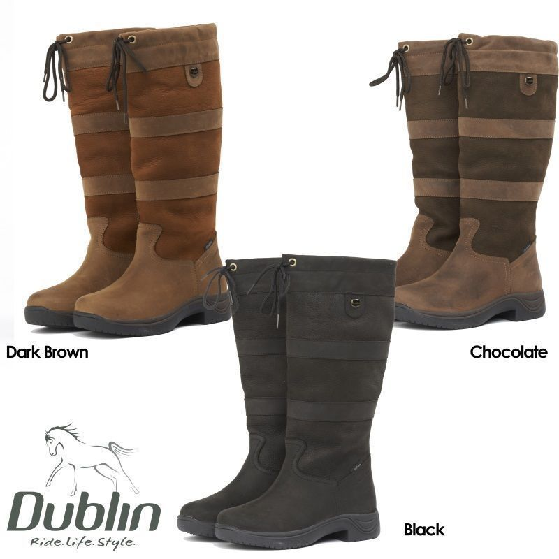 Dublin River Boots Waterproof Standard Wide Calf Horse Riding Country Boot New Ebay Country Boots Leather Country Boots Horse Riding Boots