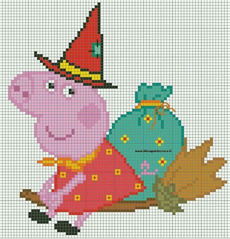 Peppa pig peppa pinterest peppa pig cross stitch patterns and cross stitch - Fusee peppa pig ...