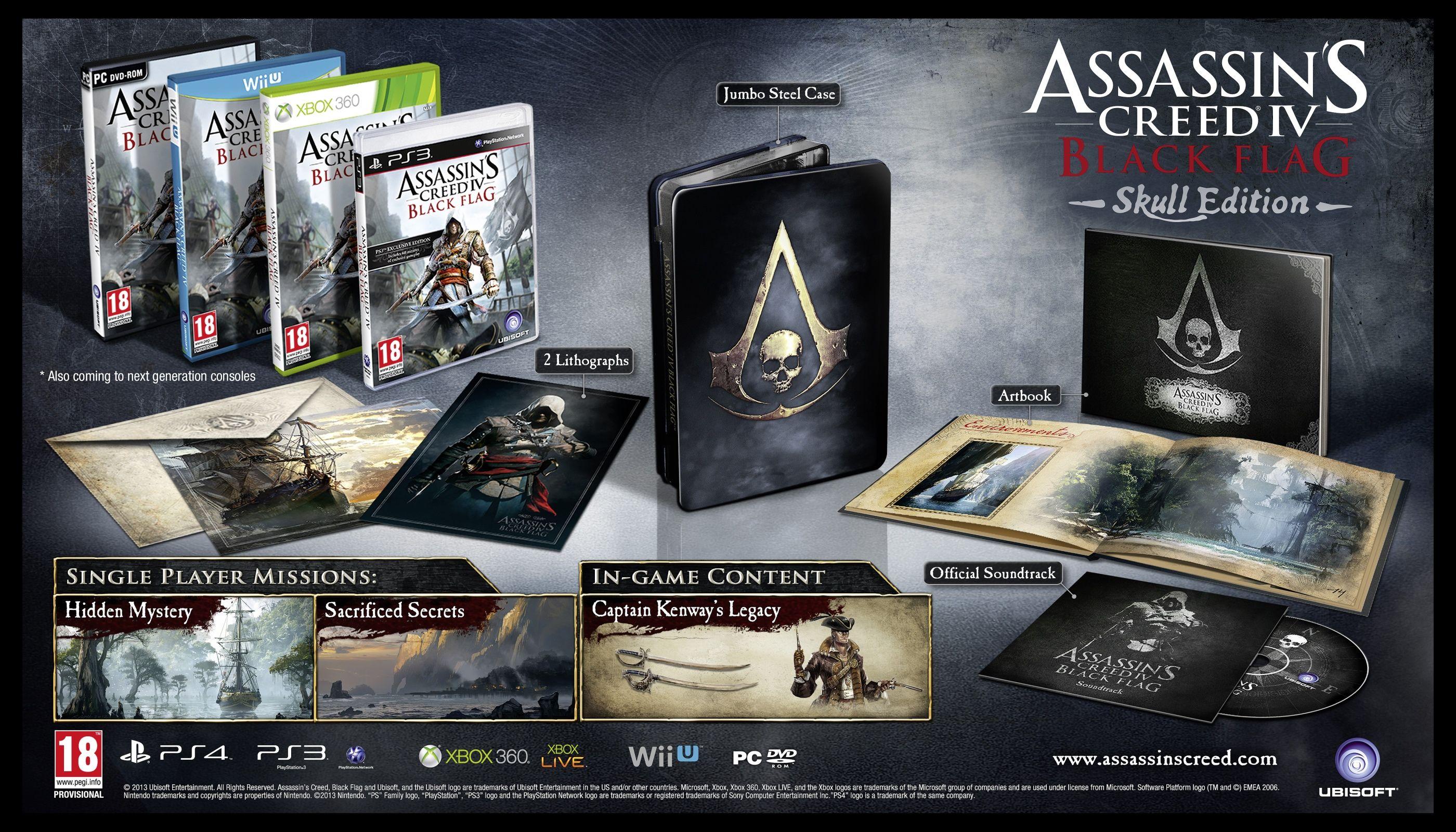 Here Is The Assassins Creed Iv Black Flag Skull Edition Harrrr
