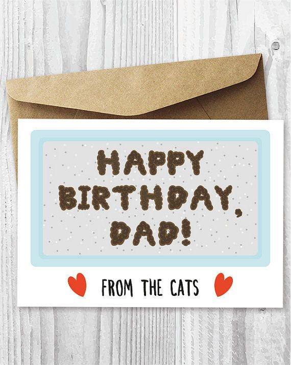 graphic relating to Happy Birthday Dad Cards Printable named Humorous Printable Birthday Card in opposition to The Cats, Birthday Card
