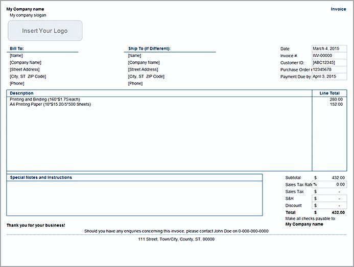 Basic Invoice Template Word , The Uses Of Basic Invoice Template - copy of invoice template