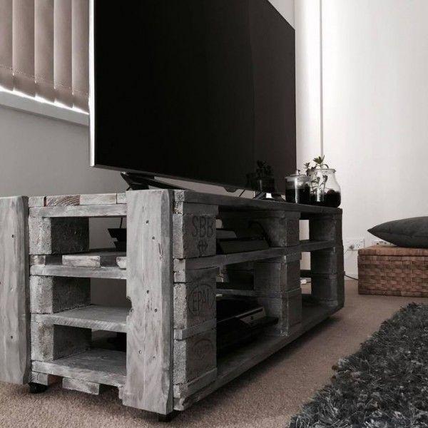 Faire Meuble Tv Palette : 1000+ Ideas About Meuble Tv En Palette On Pinteresttv Storage