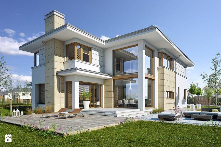 Z KLASĄ 3 - nowoczesna piętrowa rezydencja - Domy, styl nowoczesny - zdjęcie od DOMY Z WIZJĄ - nowoczesne projekty domów