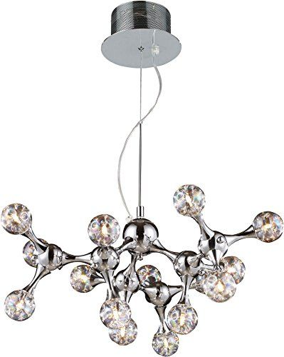 Elk Lighting Molecular 15 Light Chandelier Polished Chro Dining Room