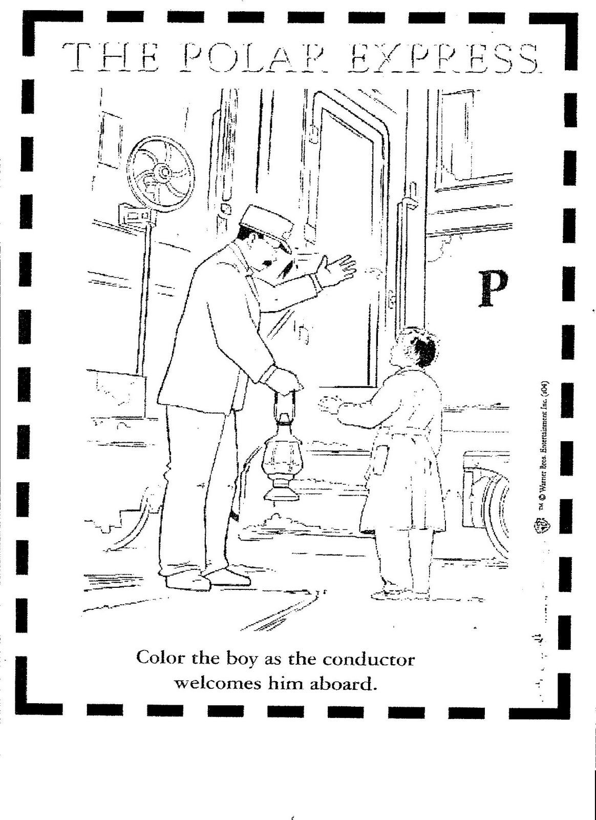 Coloring Pages Of Polar Train Express Polar Express Activities