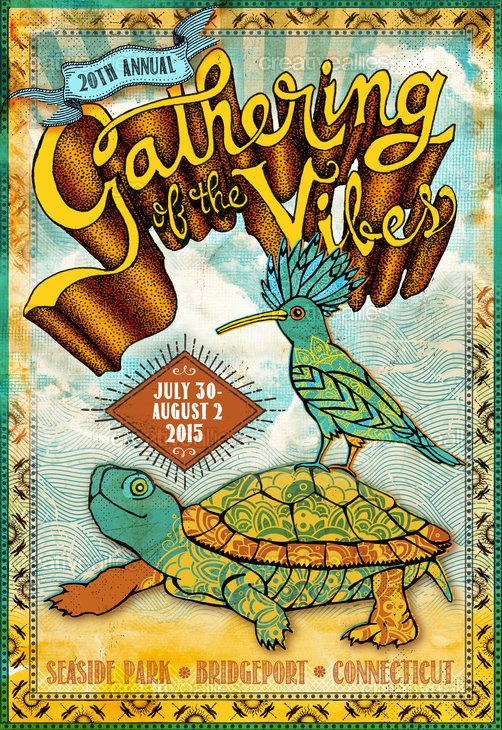 Gathering Of The Vibes Music Festival Poster by HaleRyan on CreativeAllies.com