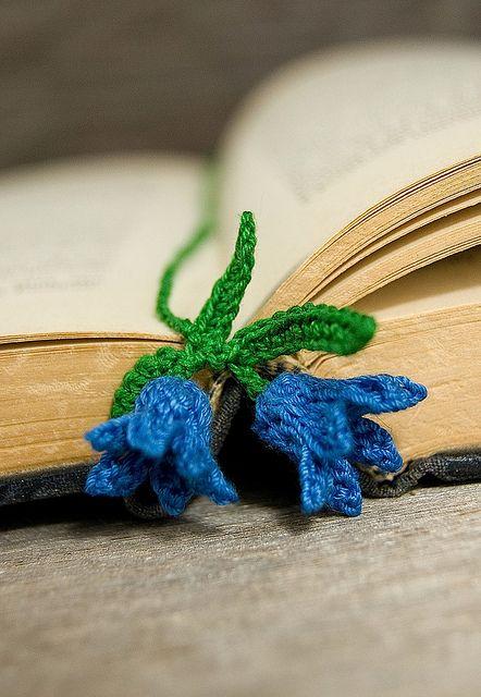 Crocheted Bluebell Flowers Bookmark Flowers Pinterest