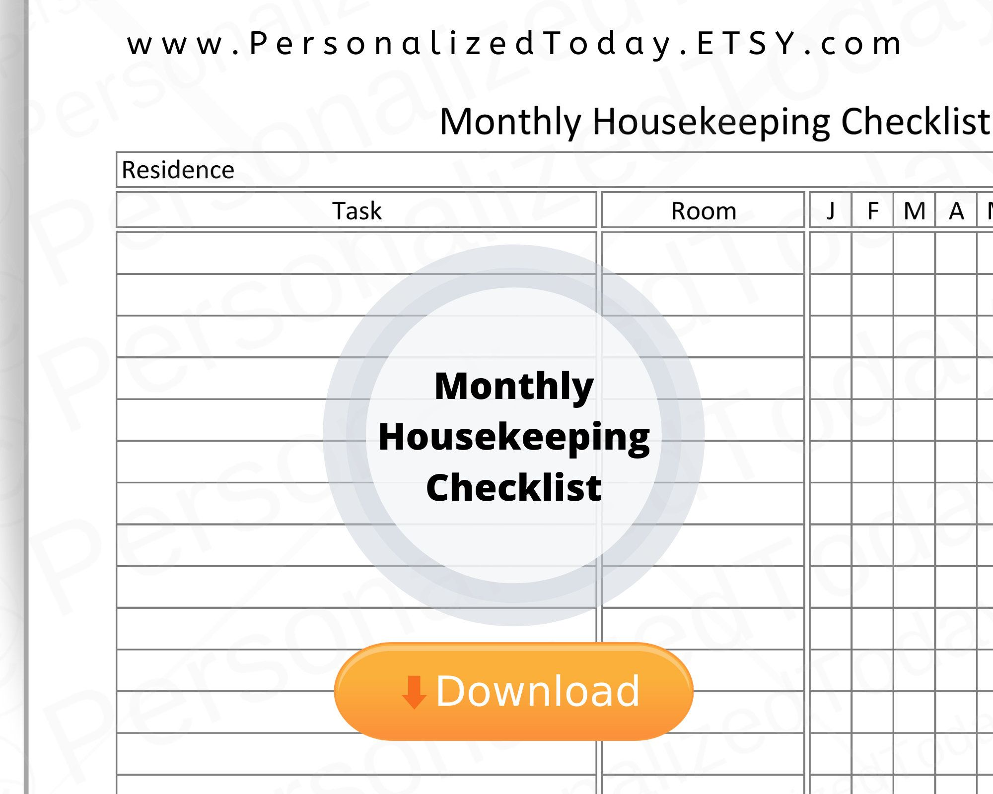Housekeeping Worksheets Printable Learning How To Read