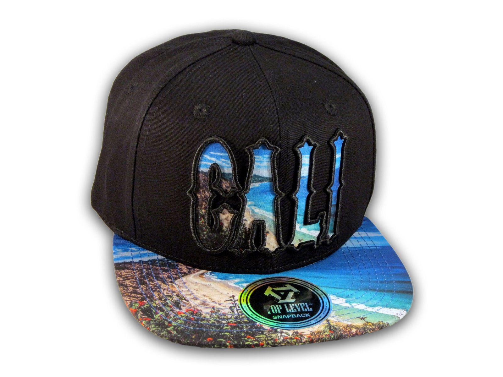 Cali Script Black California Republic On Beach Snapback Hat ... 00e4e790d88b
