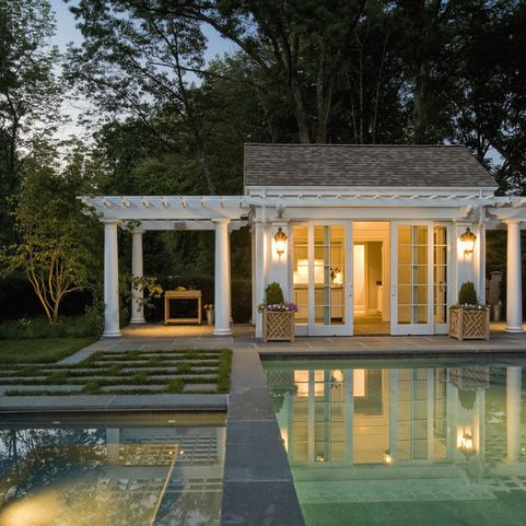 Small pool house design ideas pictures remodel and decor for House with guest house