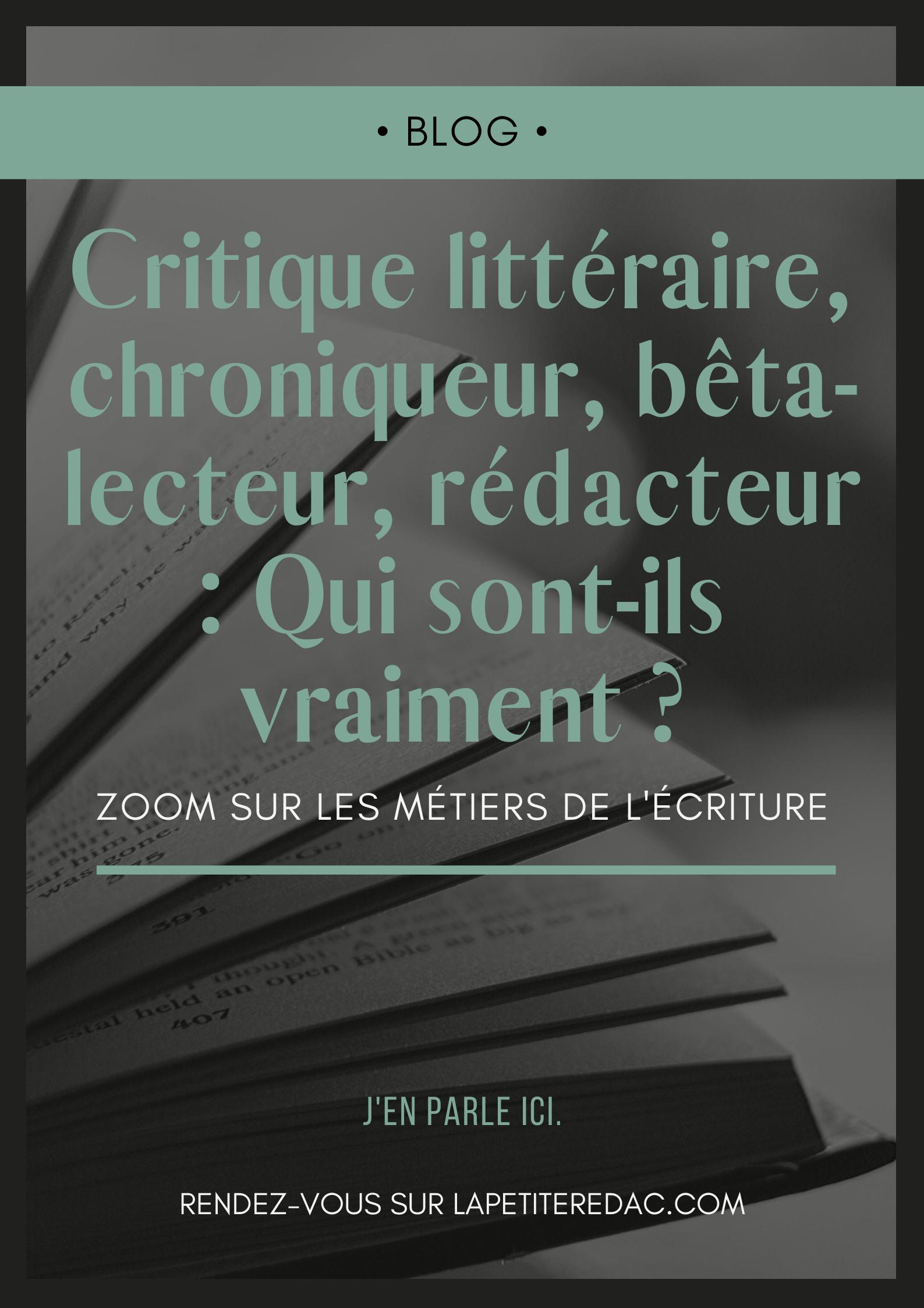 Critique Litteraire Chroniqueur Beta Lecteur Redacteur Qui Sont Ils Vraiment En 2020 Critique Litteraire Litteraire Chroniqueur