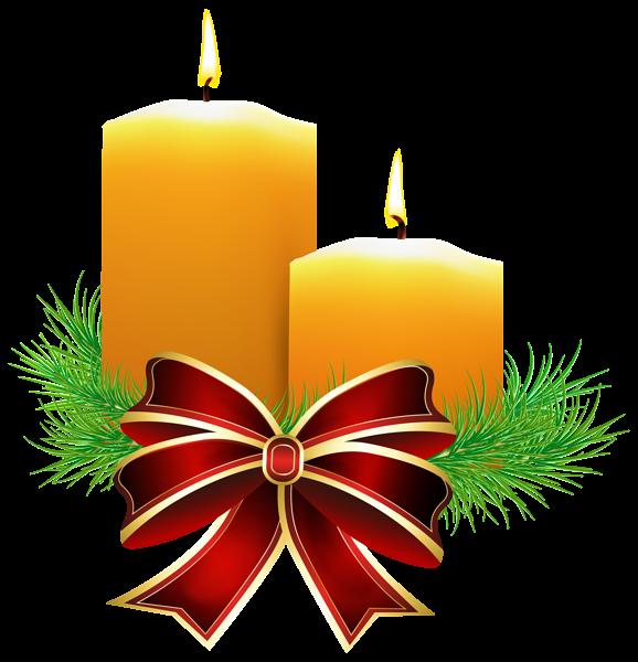 Christmas Candles Transparent PNG Clip Art Image