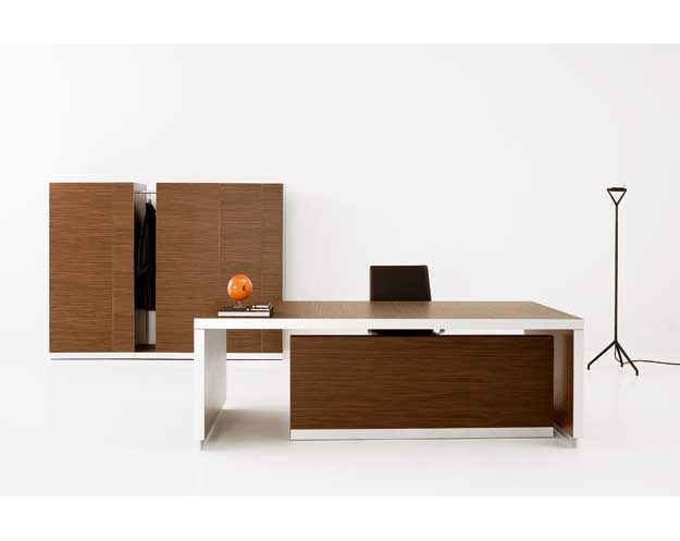 Exe walnut executive desk bureau directionnel bois noyer