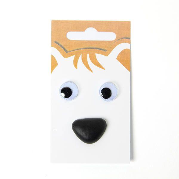 Occhi mobili / naso animale - set 2 - Bottoni bianchifavorable buying at our…