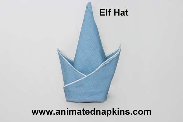 Animation Elf Hat Folding Half Start Napkin Folding At Its