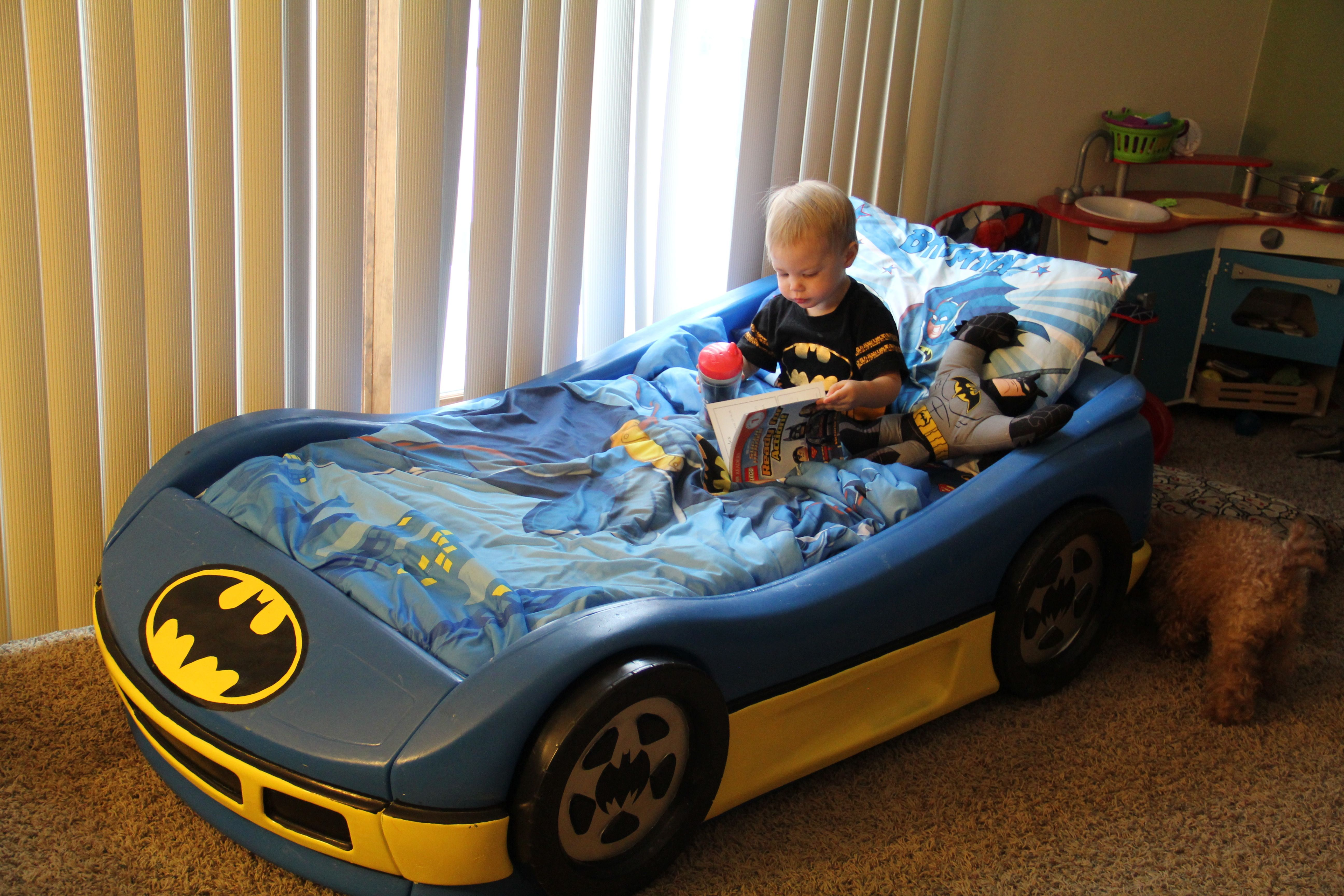batmobile bed reading for the boy bed toddler bed bedroom