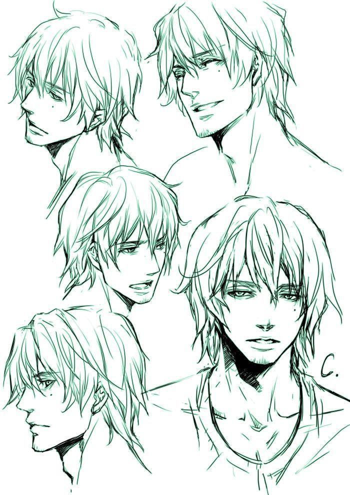 hair drawing reference male Google Search Manga hair