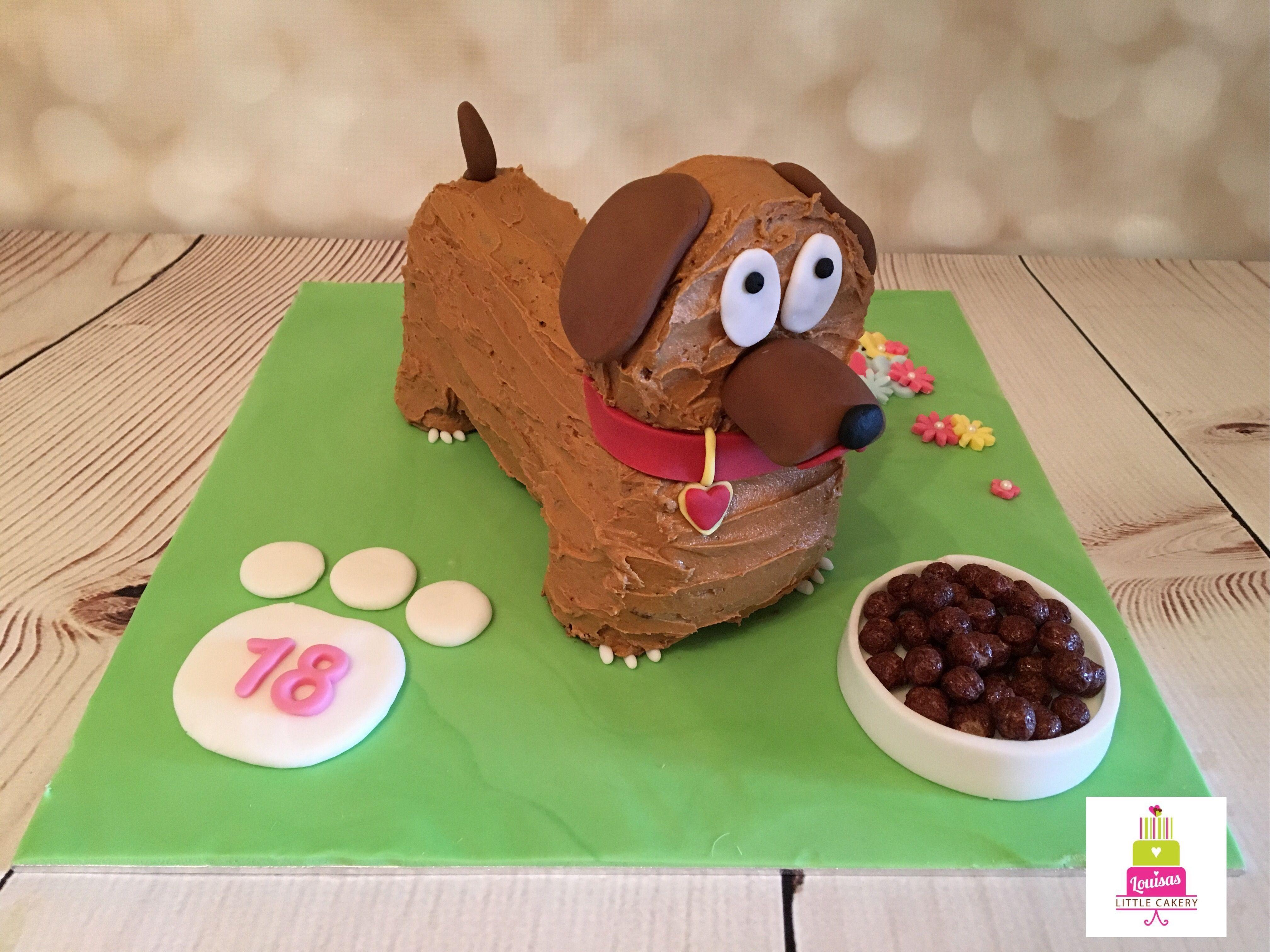 Chocolate Sausage Dog Cake Birthdaycelebration Cakes Pinterest