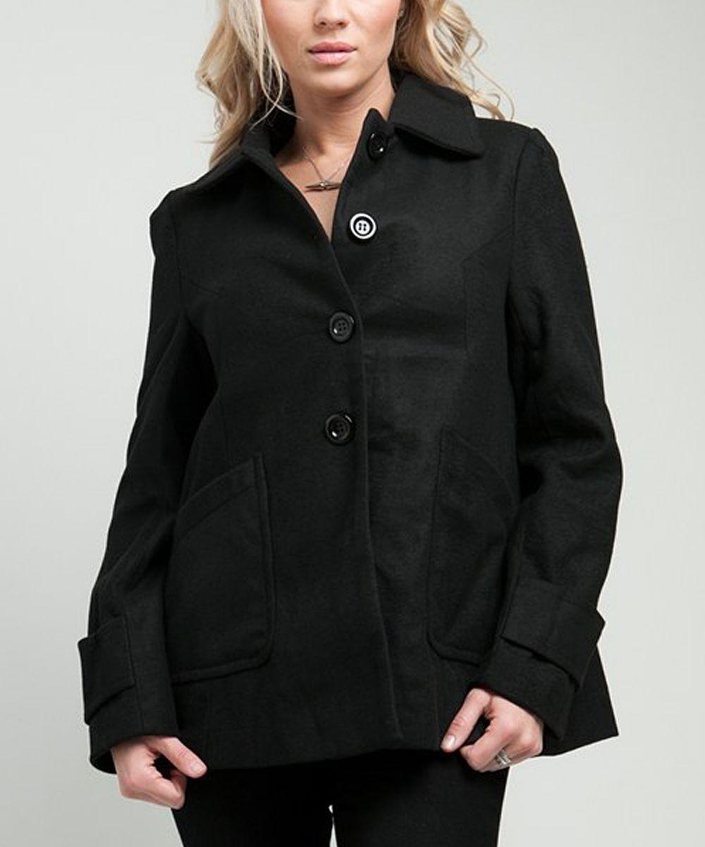 Black Swing Coat $24.99