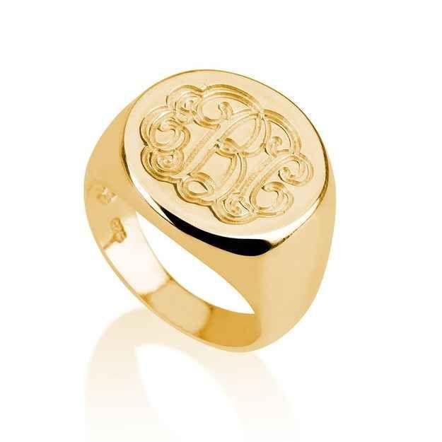 27 Graduation Gifts That Will Kickstart Adulthood Monogram Ring Silver Monogram Ring Sterling Silver Monogram Ring