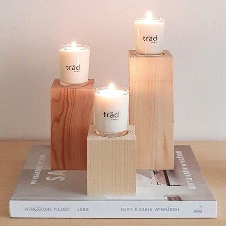 <p>Doftljus i fin träförpackning som även agerar ...</p>